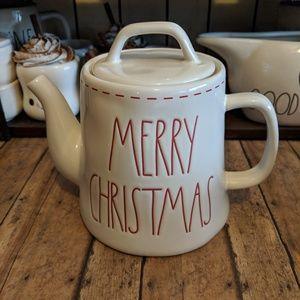 Rae Dunn Merry Christmas Teapot